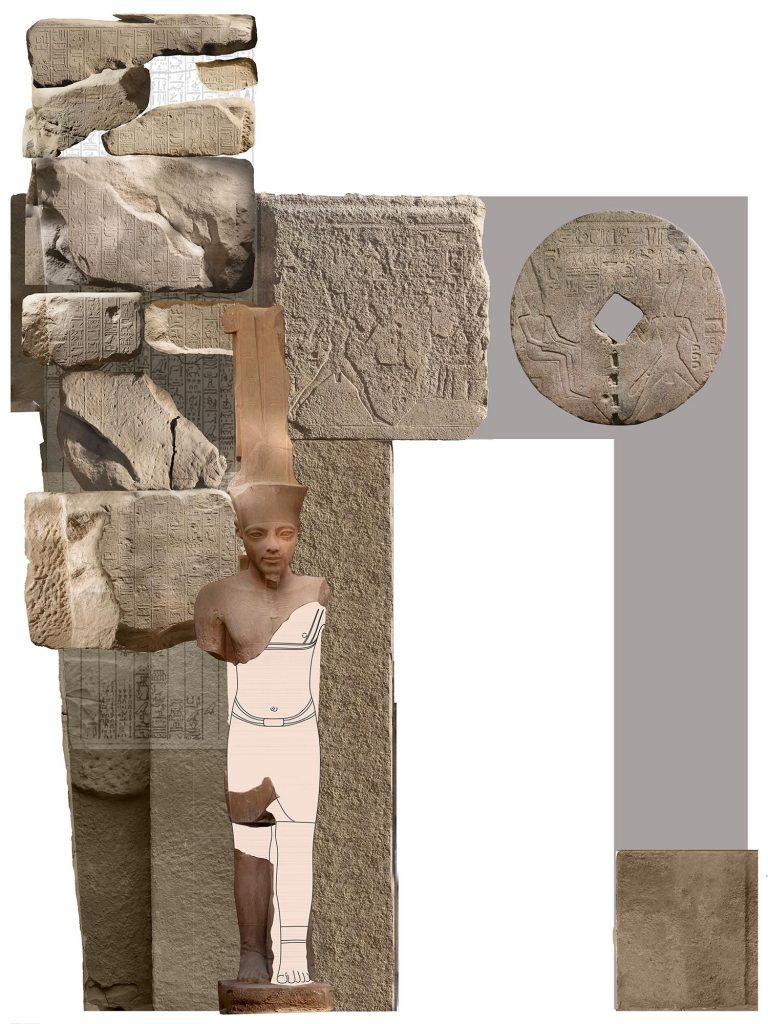 Restauration de la statue d'Amon de Toutânkhamon