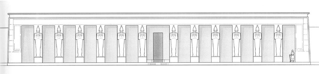 Façade du temple de Sésostris Ier à Karnak