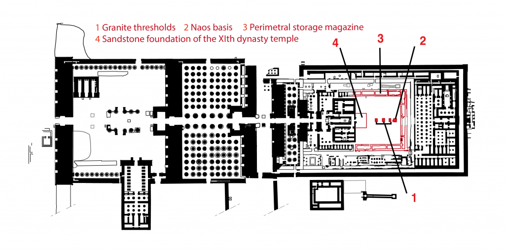 Plan du temple de Karnak et la cour du Moyen Empire