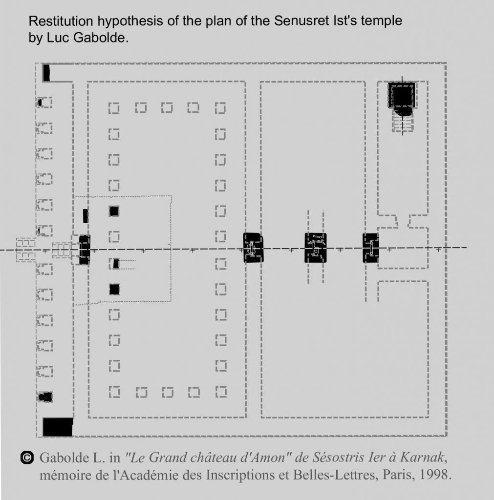 Restitution du plan du temple de Sésostris Ier à Karnak - Luc Gabolde