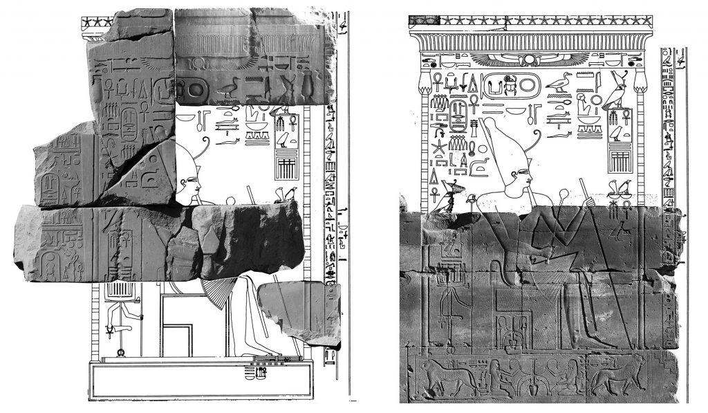 Portique de Sésostris Ier à Karnak remplacé par Hatchepsout - temple de Karnak
