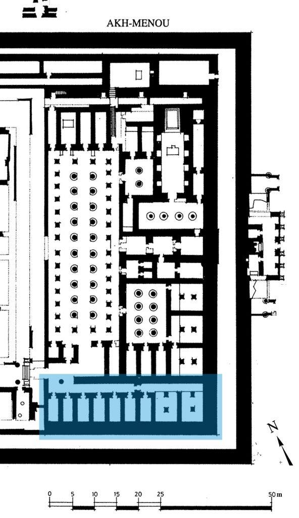 Plan magasins sud - Akhmenou - Karnak